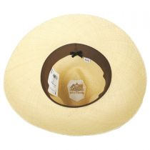 Destiny Panama Straw Wide Brim Fedora Hat in