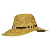 Shell and Bead Band Raffia Straw Swinger Hat alternate view 2