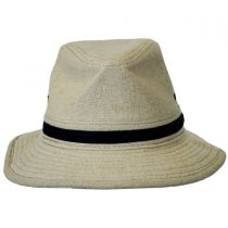 Linen Safari Fedora Hat in