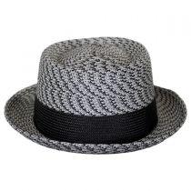 Telemannes Braid Straw Pork Pie Hat in