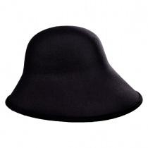 Six-Way Big Brim Wool Felt Cloche Hat alternate view 2