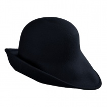Six-Way Big Brim Wool Felt Cloche Hat alternate view 4