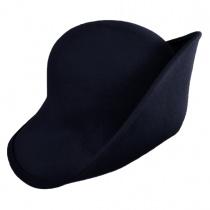 Six-Way Big Brim Wool Felt Cloche Hat alternate view 5