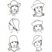 Six-Way Big Brim Wool Felt Cloche Hat alternate view 6