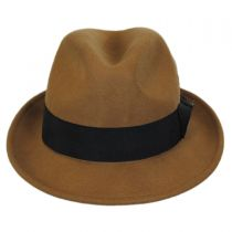 Blues Crushable Wool Felt Trilby Fedora Hat