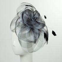 Gingham Mesh Fascinator Headband in
