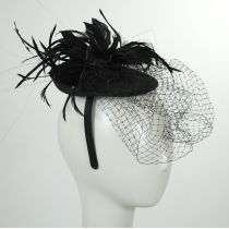 Veil and Feather Fascinator Headband alternate view 2