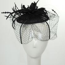 Veil and Feather Fascinator Headband alternate view 3