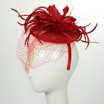 Veil and Feather Fascinator Headband alternate view 6