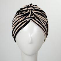 Striped Soft Poly Turban alternate view 3
