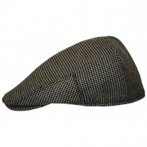 Merripit Houndstooth Italian Wool Ivy Cap in