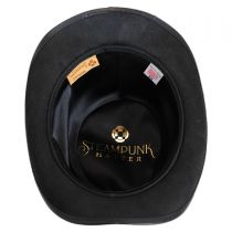 Skeletor Leather Top Hat in