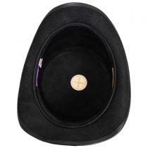 Splash Leather Top Hat in
