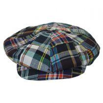 Madras Patchwork Cotton Big Apple Cap in