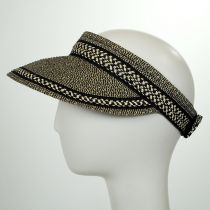 Tweed/Check Toyo Straw Rollable Visor in