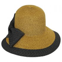 Overlap Brim and Bow Toyo Straw Sun Hat alternate view 2