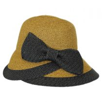 Overlap Brim and Bow Toyo Straw Sun Hat alternate view 3
