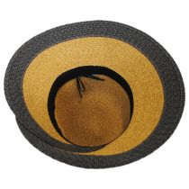 Overlap Brim and Bow Toyo Straw Sun Hat alternate view 4