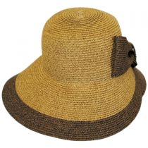 Overlap Brim and Bow Toyo Straw Sun Hat alternate view 6