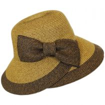Overlap Brim and Bow Toyo Straw Sun Hat alternate view 7