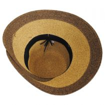 Overlap Brim and Bow Toyo Straw Sun Hat alternate view 8