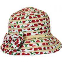 Kids' Cerise Cloche Hat in