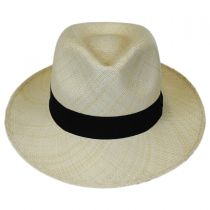 Panama Straw C-Crown Fedora Hat in