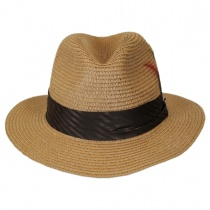 Toyo Straw Braid Safari Fedora Hat alternate view 2