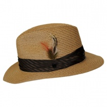 Toyo Straw Braid Safari Fedora Hat alternate view 15