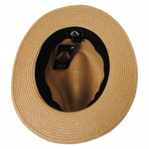 Toyo Straw Braid Safari Fedora Hat in