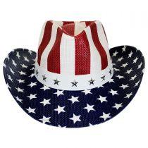 USA Flag Toyo Straw Western Hat alternate view 10
