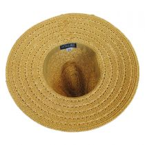 Tejer Toyo Straw Wide Brim Fedora Hat in