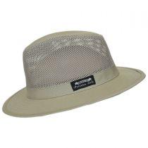 Mesh Crown Cotton Safari Fedora Hat alternate view 7
