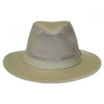 Mesh Crown Cotton Safari Fedora Hat alternate view 10