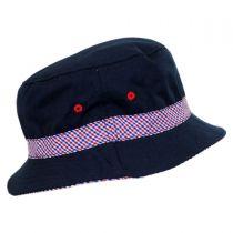 Kids' Patriot Cotton Bucket Hat in