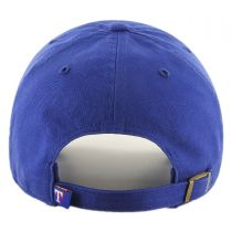 Texas Rangers MLB Clean Up Strapback Baseball Cap Dad Hat in