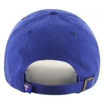 Texas Rangers MLB Clean Up Strapback Baseball Cap Dad Hat alternate view 2