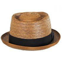 Be Bop Coconut Straw Pork Pie Hat alternate view 2