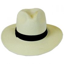 Toyo Straw Braid Fedora Hat alternate view 6