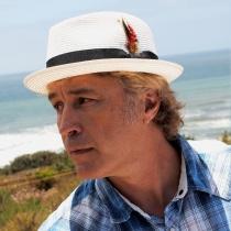 Toyo Straw Braid Trilby Fedora Hat in