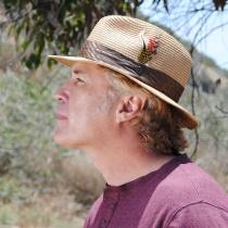 Toyo Straw Braid Safari Fedora Hat alternate view 6
