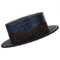 Sennett Italian Skimmer with Solid Hat Band - Navy in