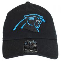 Carolina Panthers NFL Clean Up Strapback Baseball Cap Dad Hat alternate view 2