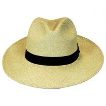 Folding Panama Straw Fedora Hat alternate view 2