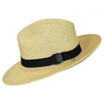 Folding Panama Straw Fedora Hat in