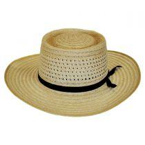 Vent Crown Hemp Straw Planter Hat in