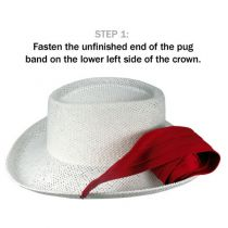 Pareo Cotton 3-Pleat Pug Hat Band in