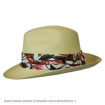 Bird of Paradise Cotton 3-Pleat Pug Hat Band in