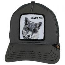 Silver Fox Mesh Trucker Snapback Baseball Cap alternate view 2