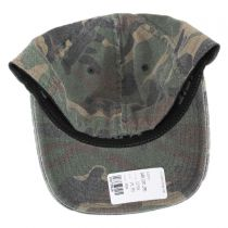 Camo Garment Washed Twill LoPro FlexFit Fitted Baseball Cap in